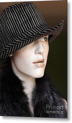 Fedora And Fur Metal Print by Sophie Vigneault