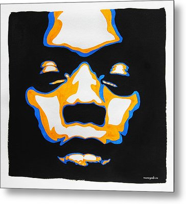 Fela. The First Black President. Metal Print by Nancy Mergybrower
