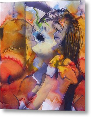 Female Climax Metal Print by Steve K