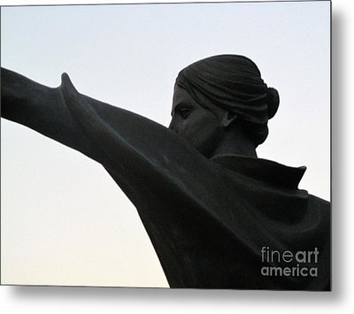 Female Educator Reaching Out Two Metal Print by Tina M Wenger