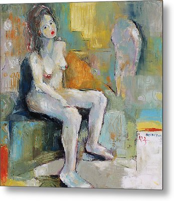 Female Nude 2 Metal Print by Becky Kim