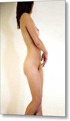Female Nude Study Metal Print by Julia Hiebaum