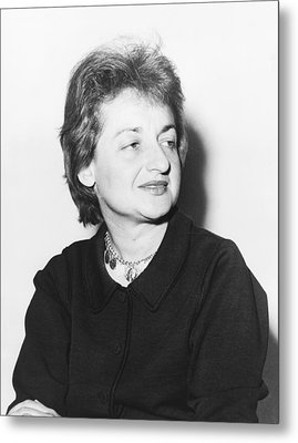 Feminist Betty Friedan Metal Print by Fred Palumbo