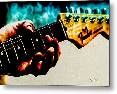 Fender Strat Metal Print by Bob Orsillo