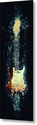 Fender Strat Metal Print by Taylan Soyturk