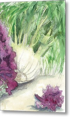 Fennel And Friend Metal Print by Maria Hunt