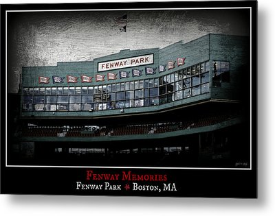 Fenway Memories - Poster 1 Metal Print by Stephen Stookey