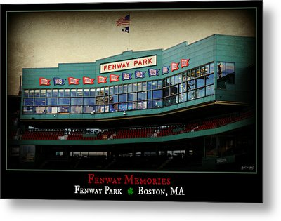 Fenway Memories - Poster 2 Metal Print by Stephen Stookey