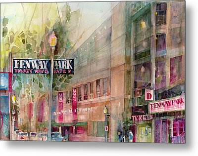 Fenway Park Home Of The World Champs Red Sox Metal Print by Dorrie Rifkin