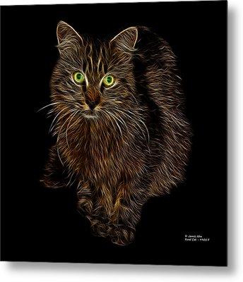 Feral Cat - 9905 F Metal Print by James Ahn