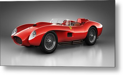 Ferrari 250 Testa Rossa - Spirit Metal Print by Marc Orphanos