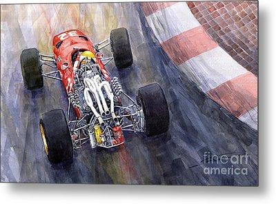 Ferrari 312 F1 1967 Metal Print by Yuriy Shevchuk