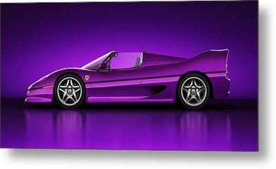 Ferrari F50 - Neon Metal Print by Marc Orphanos