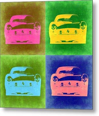 Ferrari Front Pop Art 3 Metal Print by Naxart Studio