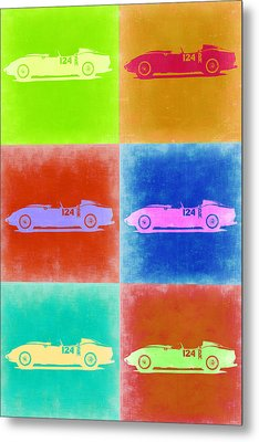 Ferrari Testarossa Pop Art 2 Metal Print by Naxart Studio