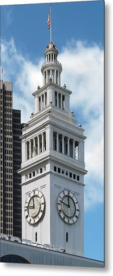 Ferry Building Clock Tower Metal Print by Jo Ann Snover