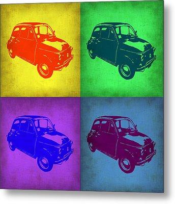 Fiat 500 Pop Art 1 Metal Print by Naxart Studio