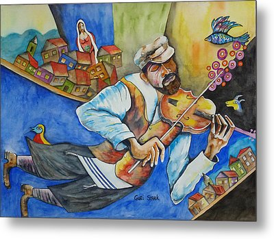 Fiddler On The Roofs Metal Print by Guri Stark