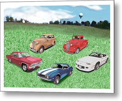 Field Of Chevys Metal Print by Jack Pumphrey