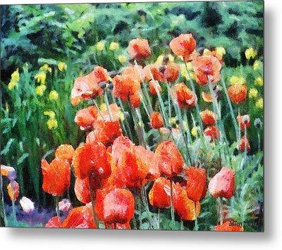 Field Of Flowers Metal Print by Jeff Kolker