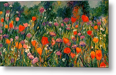 Field Of Flowers Metal Print by Kendall Kessler