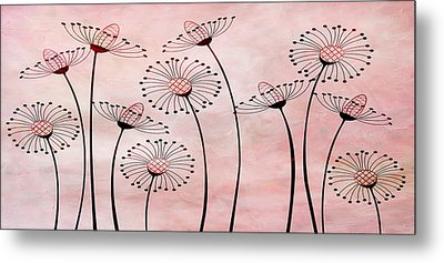 Field Of Flowers Within 3 Metal Print by Angelina Vick