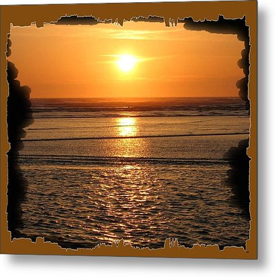 Fiery Cannon Beach Sunset Metal Print by Will Borden