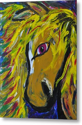 Fiery Steed Metal Print by JAMART Photography