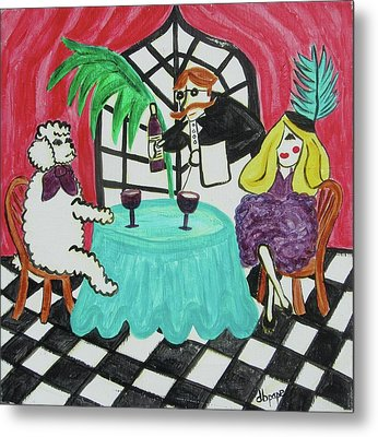 Fifi's Night Out Metal Print by Diane Pape