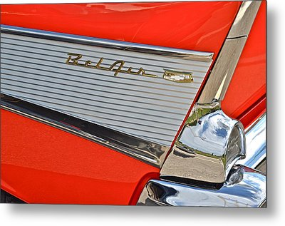 Fifty Seven Chevy Bel Air Metal Print by Frozen in Time Fine Art Photography