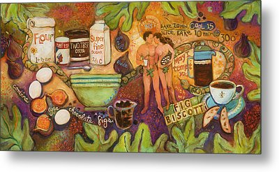 Fig Biscotti Recipe Metal Print by Jen Norton