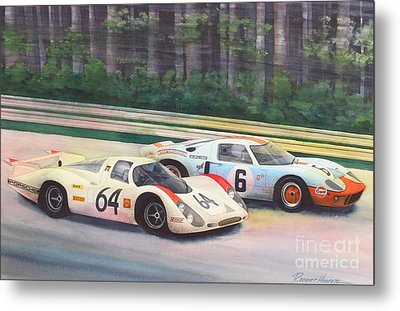 Fight For The Lead Metal Print by Robert Hooper