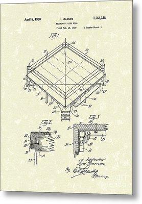 Fight Ring 1930 Patent Art Metal Print by Prior Art Design