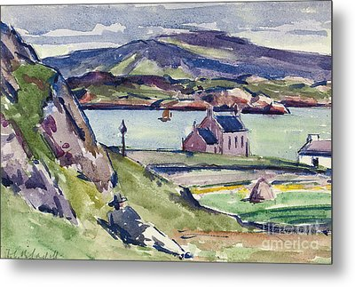 Figure And Kirk   Iona Metal Print by Francis Campbell Boileau Cadell