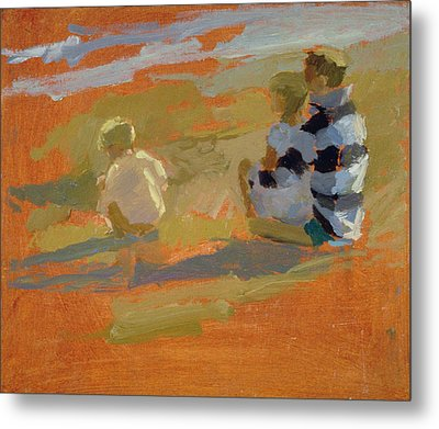 Figures On The Beach  Metal Print by Sarah Butterfield