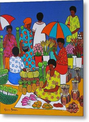Fiji Market Metal Print by Karen Bower