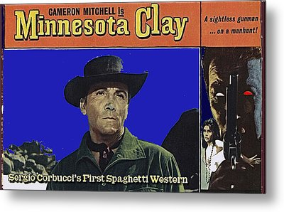 Film Homage Cameron Mitchell Minnesota Clay Lobby Card 1964-2013 Metal Print by David Lee Guss