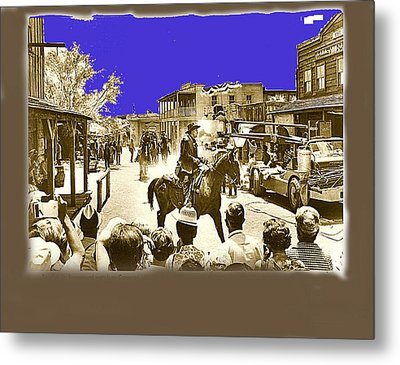 Film Homage Cameron Mitchell The High Chaparral Main Street Old Tucson Az Publicity Photo Metal Print by David Lee Guss