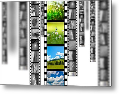 Film Strip Metal Print by Bahnean Teodor Andrei