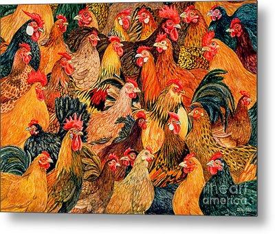 Fine Fowl Metal Print by Ditz