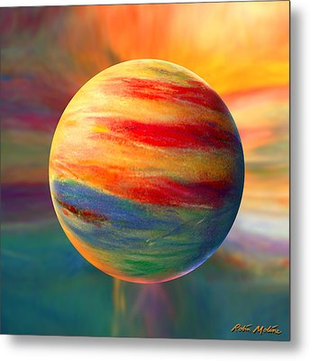 Fire And Ice Ball  Metal Print by Robin Moline
