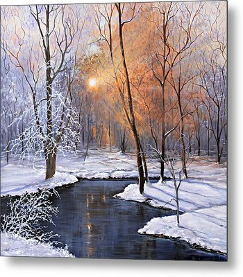 Fire And Ice Metal Print by Julie Townsend