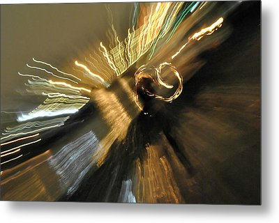 Fire And Lights Metal Print by Frederico Borges