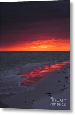 Fire And Water Metal Print by Elizabeth Carr