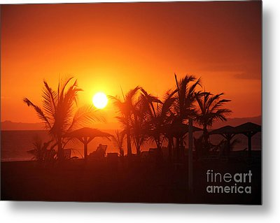 Fire Ball Sunset Metal Print by Bob Hislop