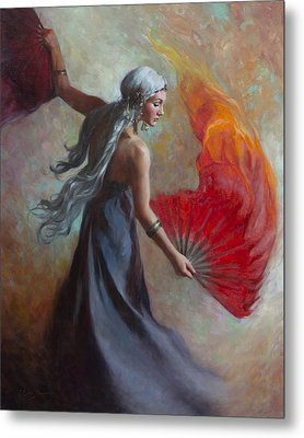 Fire Dance Metal Print by Anna Rose Bain