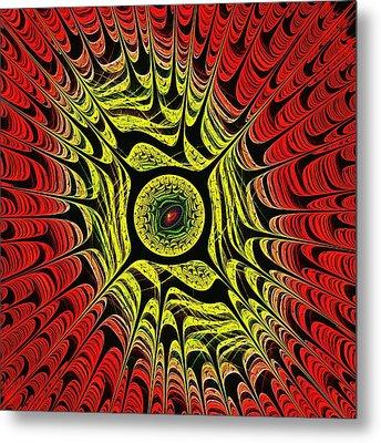 Fire Dragon Eye Metal Print by Anastasiya Malakhova