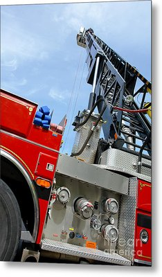 Fire Engine Metal Print by Olivier Le Queinec