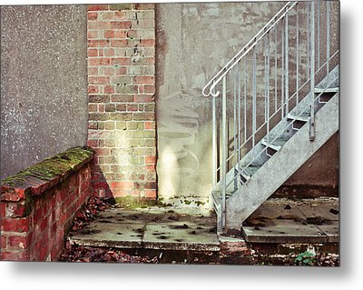 Fire Escape Stairs Metal Print by Tom Gowanlock