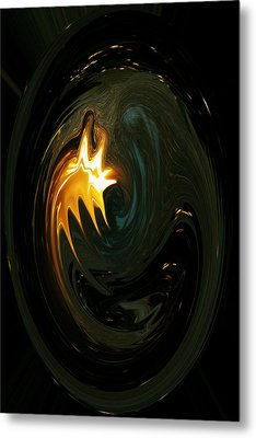 Fire From Above Metal Print by Ella Char